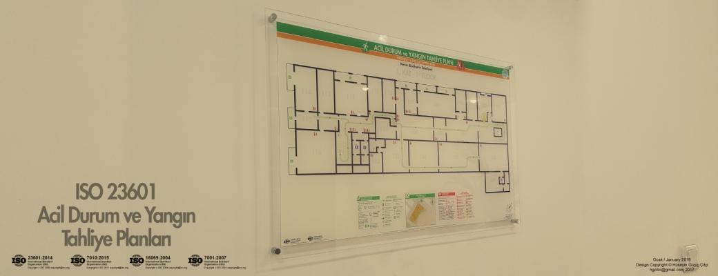 ISO 23601 Acil Durum ve Yangın Tahliye Kat Planları