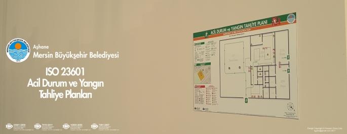 ashane Mersin Büyükşehir Belediyesi ISO 23601 Acil Durum Ve Yangın Tahliye Kat Planları