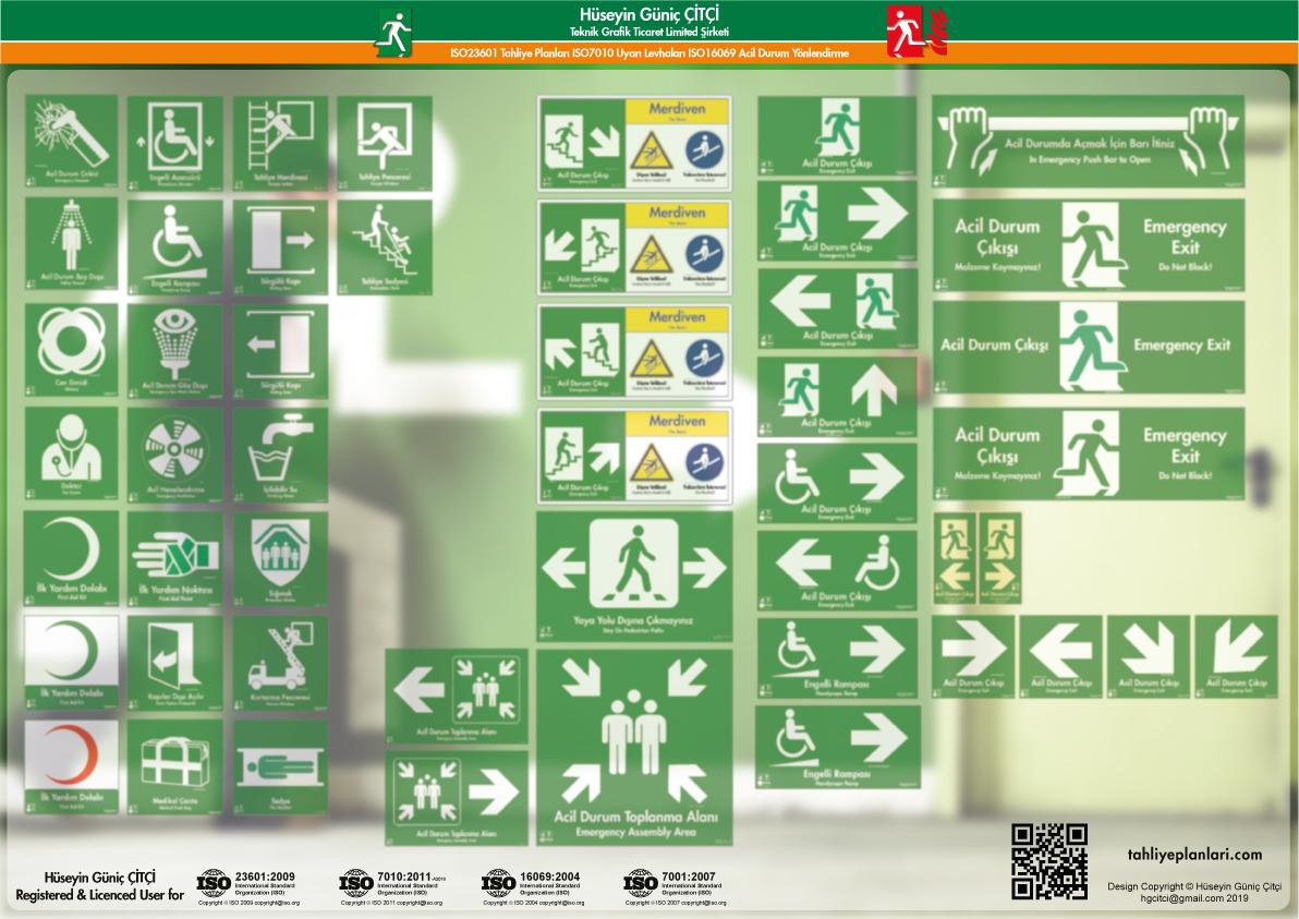 ISO 7010 Uyarı Levhaları_emergency