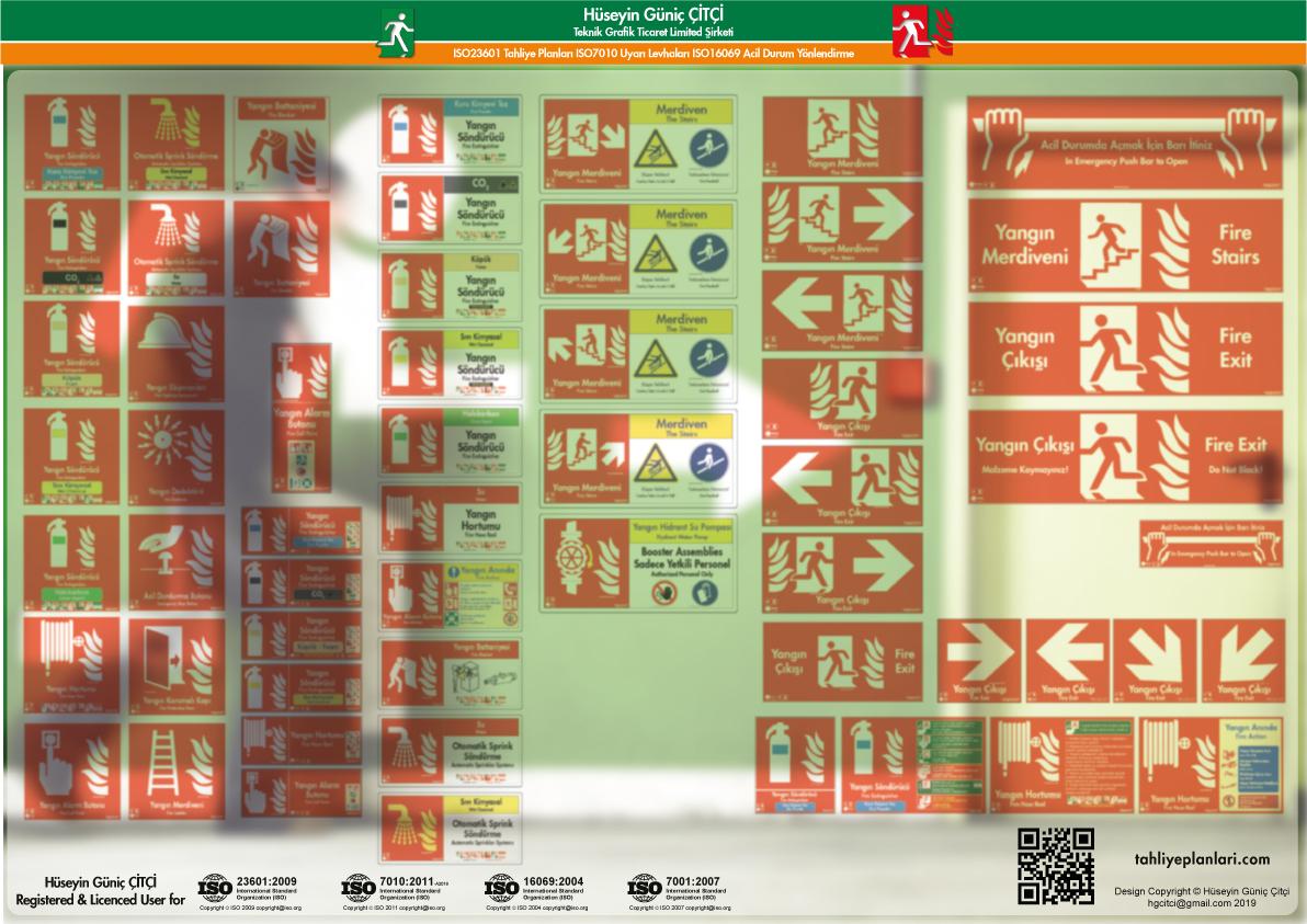 ISO 7010 Uyarı Levhaları_fire