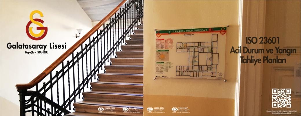 istanbul galatasaray lisesi ISO 23601 Acil Durum ve Yangın Tahliye Kat Planları