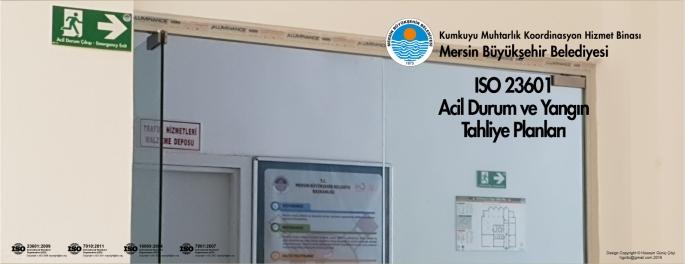 Kumkuyu Muhtarlik Hizmet Binası Mersin Büyükşehir Belediyesi ISO 23601 Acil Durum Ve Yangın Tahliye Kat Planları