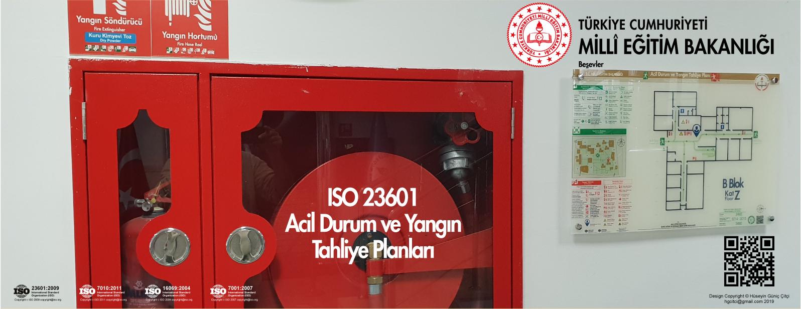 meb 004 besevler ISO 23601 Acil Durum ve Yangın Tahliye Kat Planları