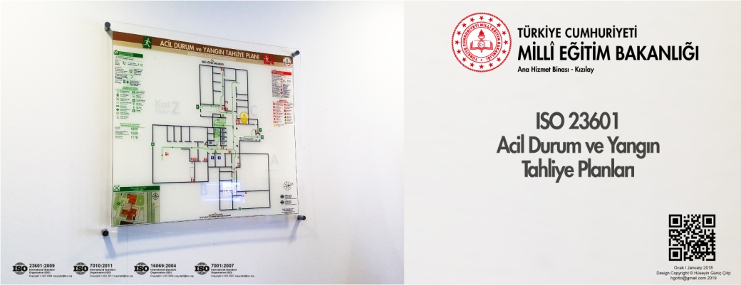 meb ana hizmet ankara kizilay ISO 23601 Acil Durum ve Yangın Tahliye Kat Planları