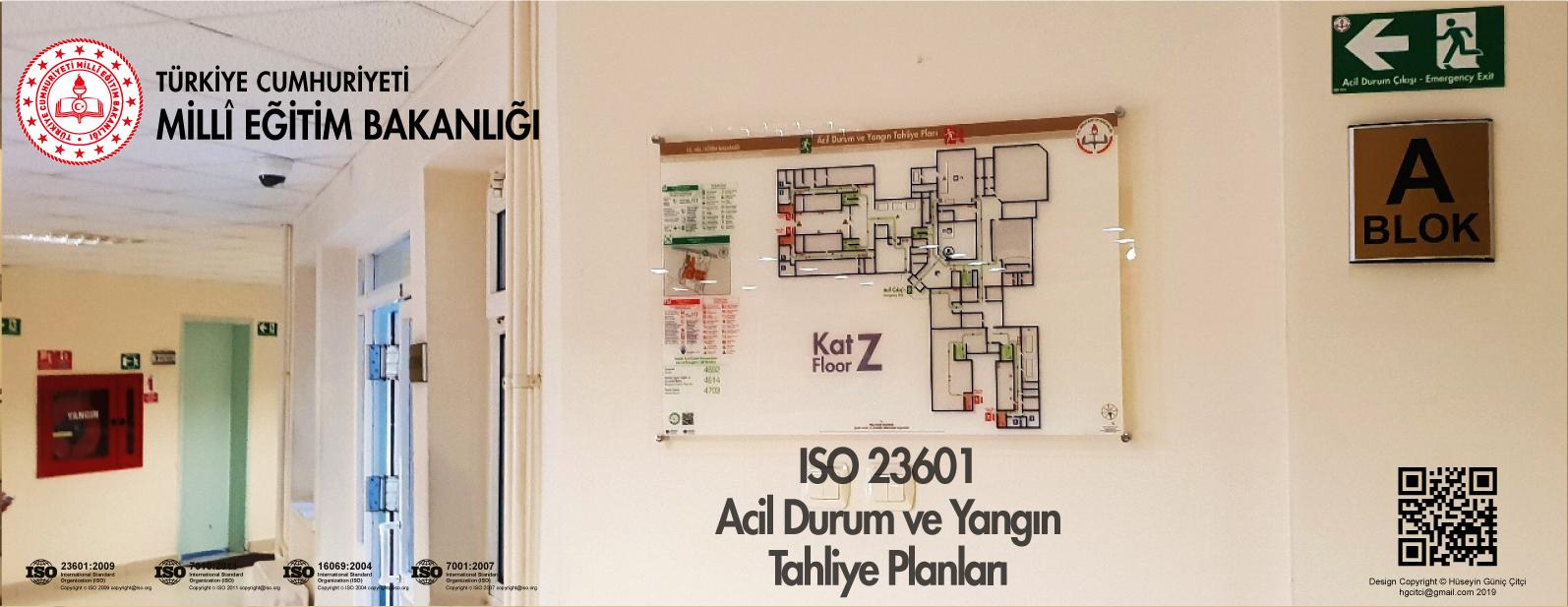 meb ISO 23601 Acil Durum ve Yangın Tahliye Kat Planları