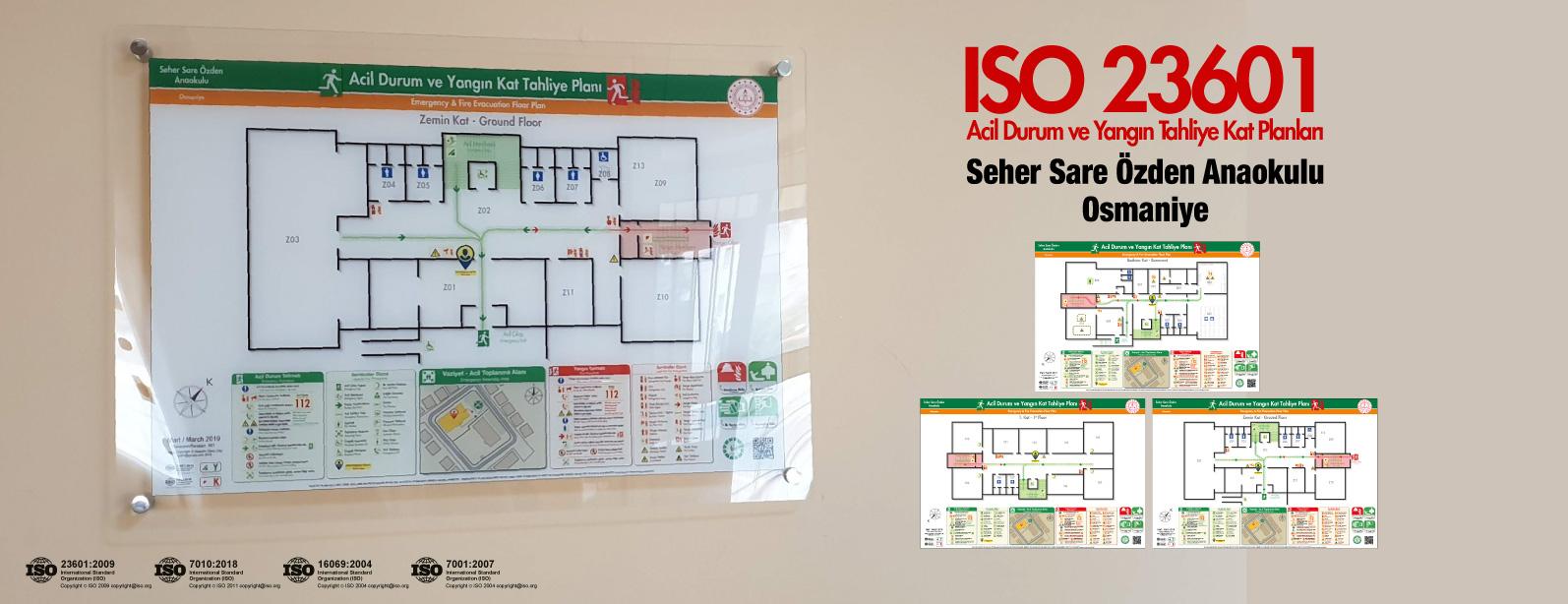 osmaniye-seher-sare-ozden-anaokulu ISO23601 Acil Durum ve Yangin Tahliye Kat Plani Pleksi