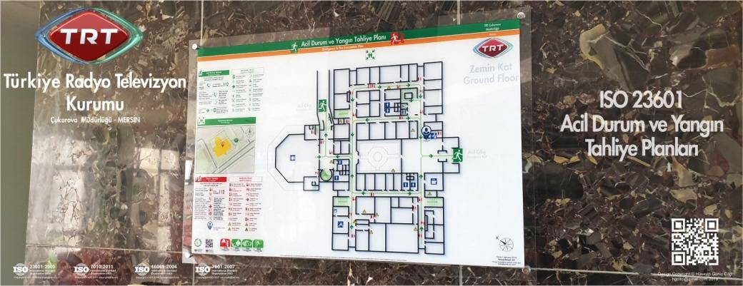 trt cukurova ISO 23601 Acil Durum ve Yangın Tahliye Kat Planları