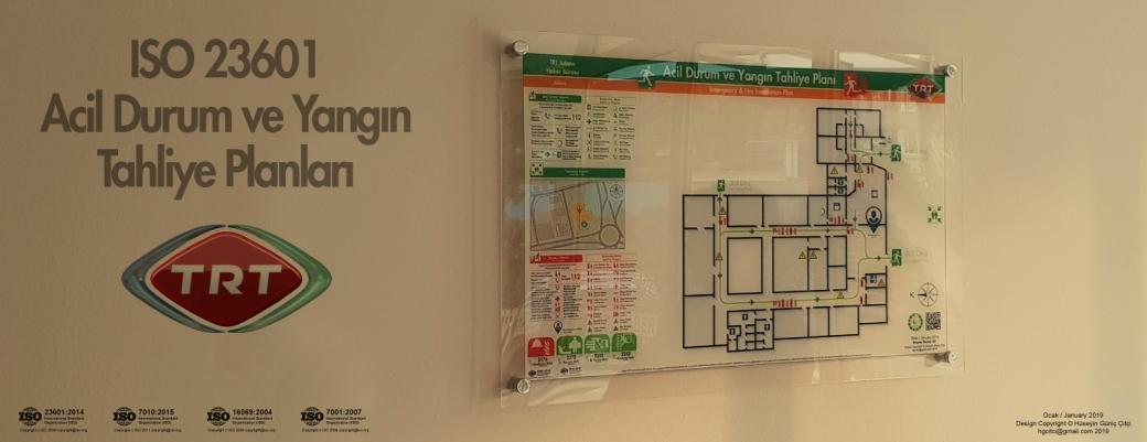 trt ISO 23601 Acil Durum ve Yangın Tahliye Kat Planları