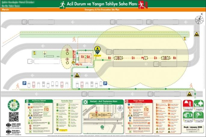 ISO 23601 Acil Durum ve Yangin Tahliye Saha Plani Akaryakıt İstasyonu