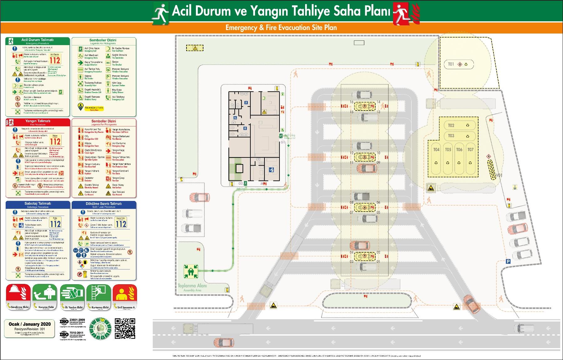 ISO 23601 Acil Durum ve Yangin Tahliye Saha Plani Akaryakit istasyonu